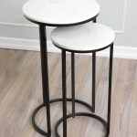 Latitude Run Cruxanne Marble Top Frame Nesting Tables