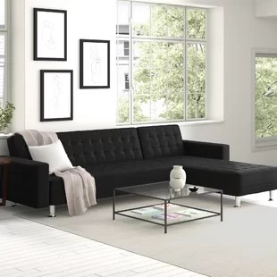 rosina 118 12 wide faux leather reversible sofa and chaise