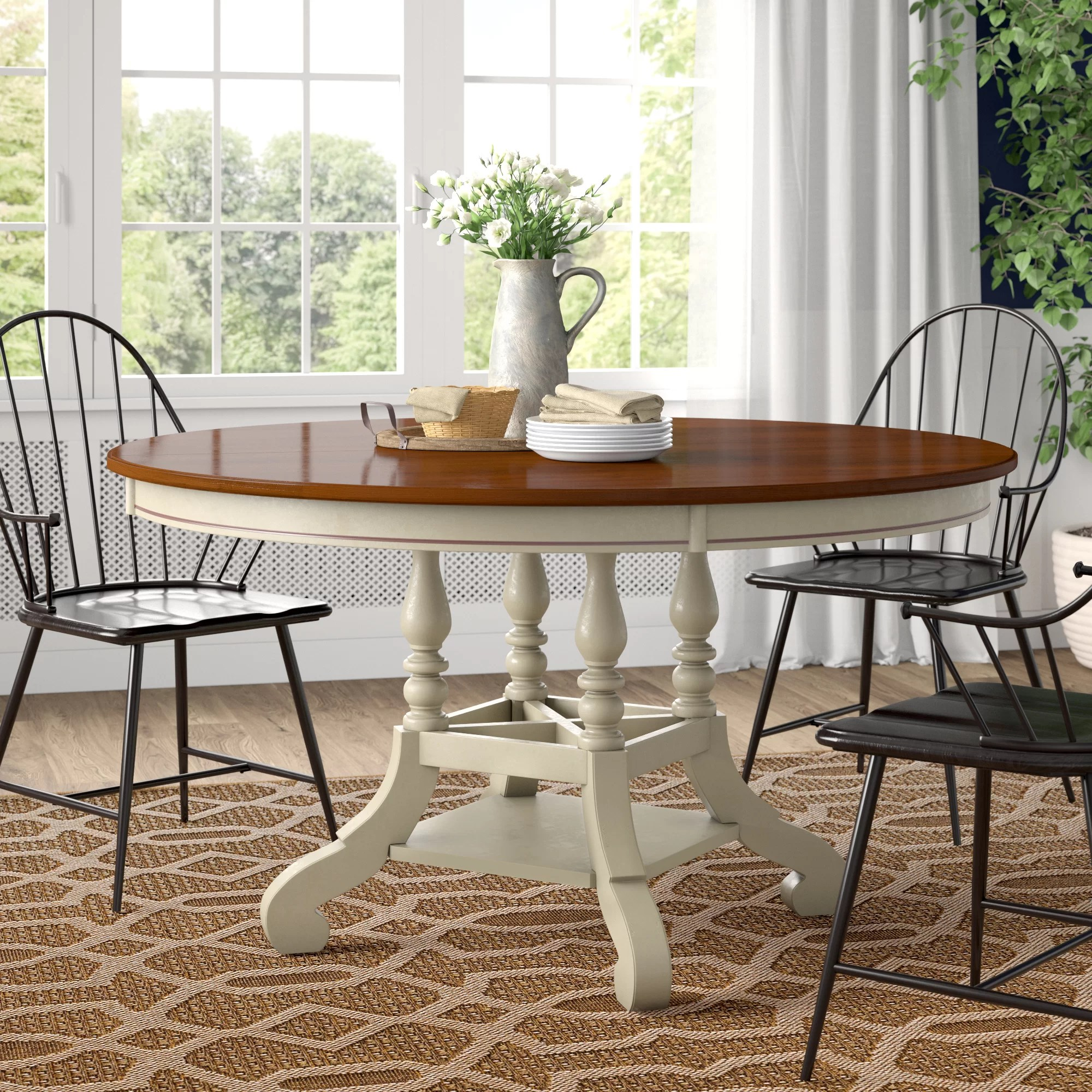 Copley Extendable Pine Solid Wood Dining Table Reviews Birch Lane