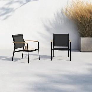 camren 2 piece teak patio chair