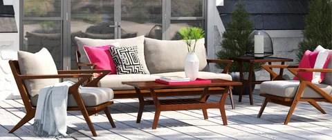 modern outdoor furniture decor