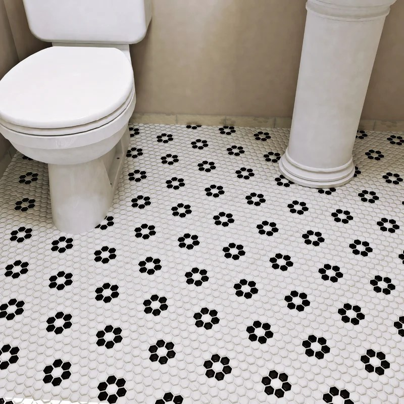 retro 0 88 x 0 88 porcelain mosaic wall floor tile
