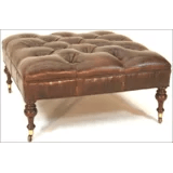 luxury genuine leather ottomans perigold