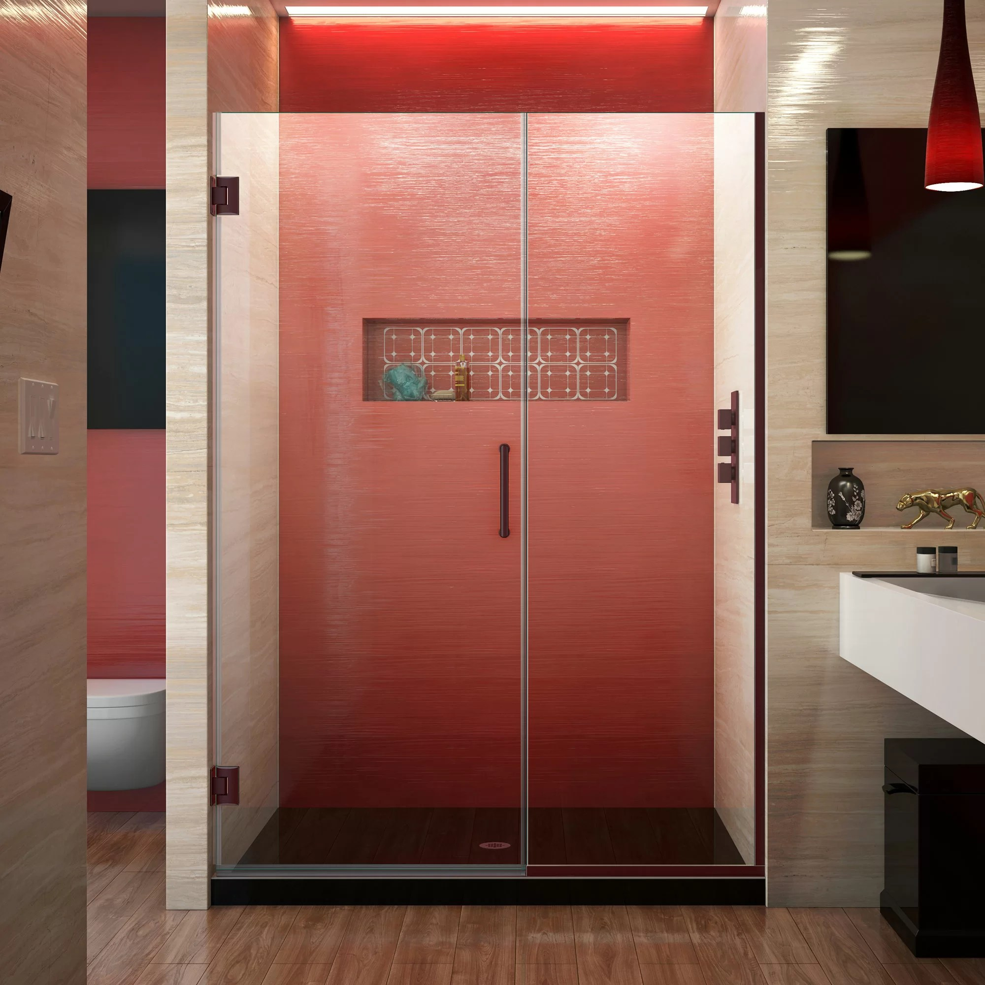 Unidoor Plus 45 5 X 72 Hinged Frameless Shower Door With Clearmax Technology