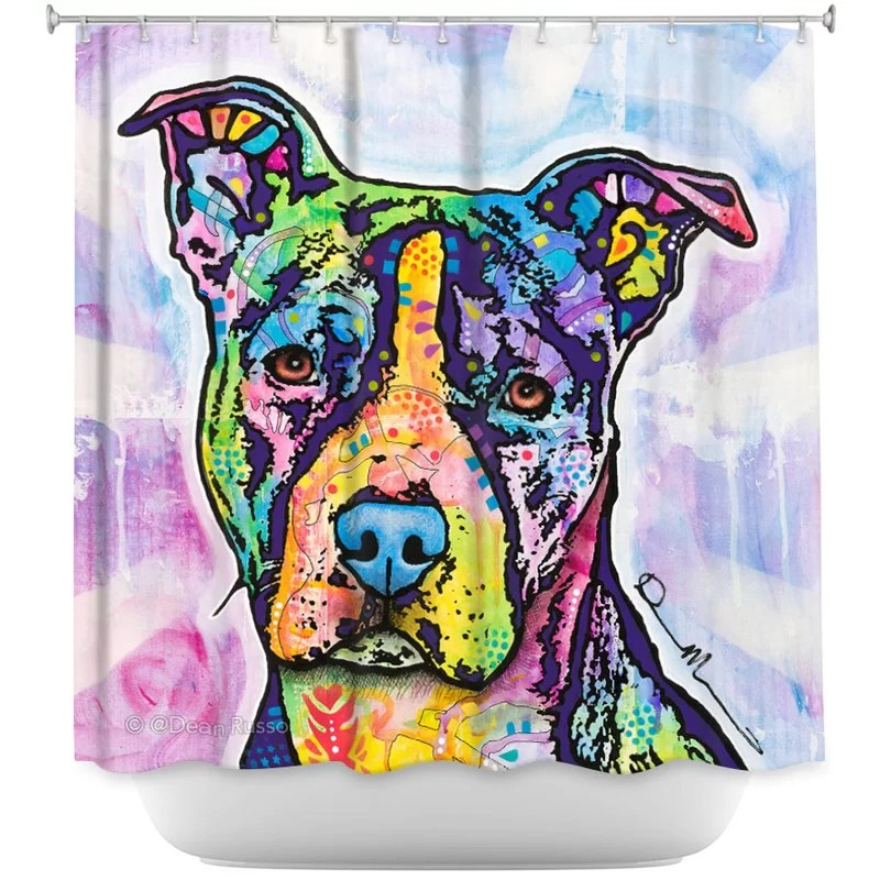 maltare illustrious pitbull dog single shower curtain