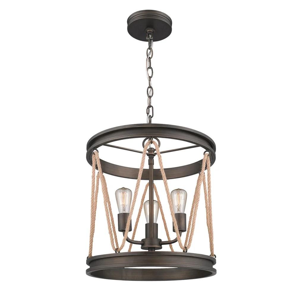 rustic drum pendant lighting
