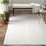 Mahomet Handwoven Flatweave Light Gray Area Rug