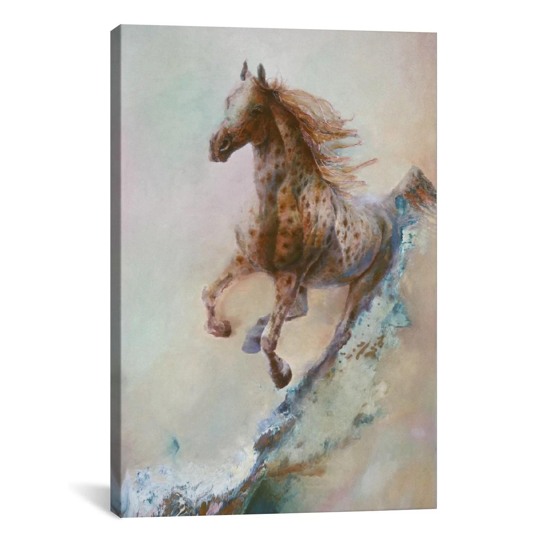 Loon Peak Appaloosa Run Running Horse Painting Print On Canvas Reviews Wayfair