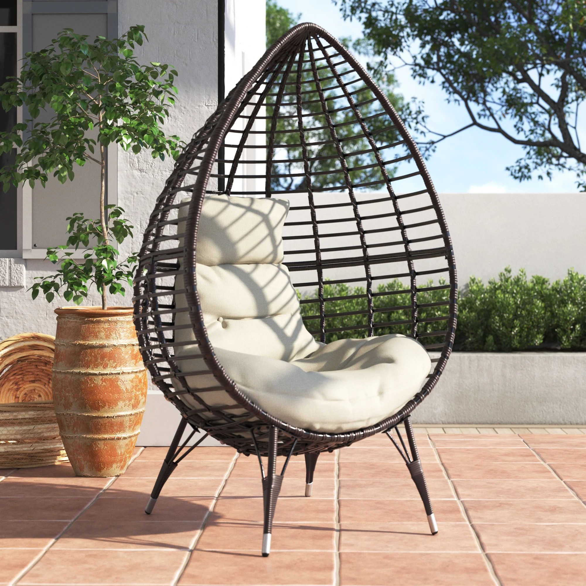 emerson teardrop patio chair with cushions