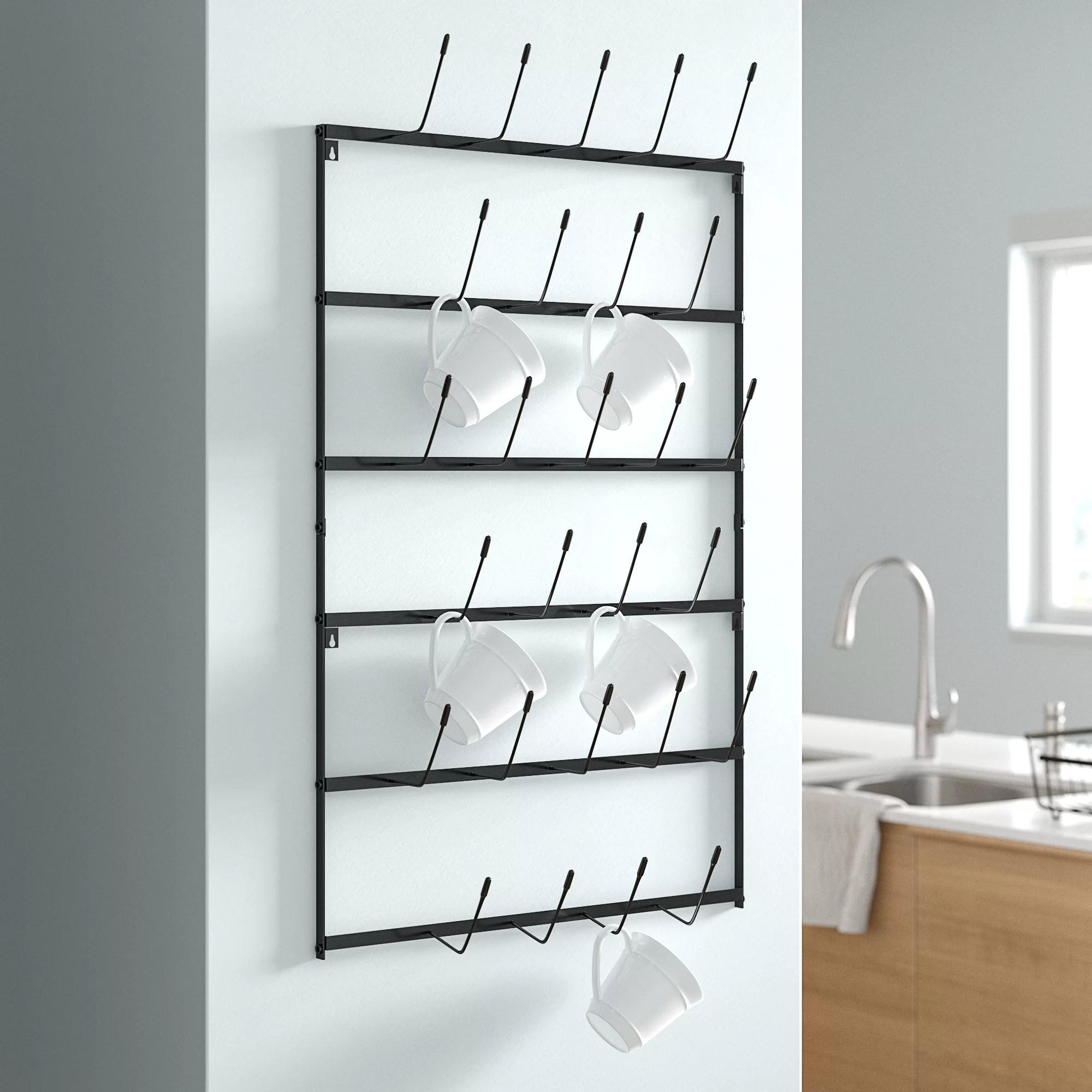 faye metal coffee wall mounted shelving rack