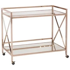 Cassidy Mirrored Serving Cart