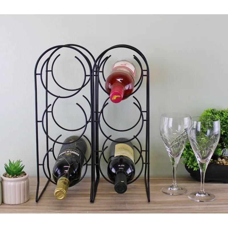haddad 6 bottle tabletop wine rack