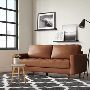 tia leather sofa
