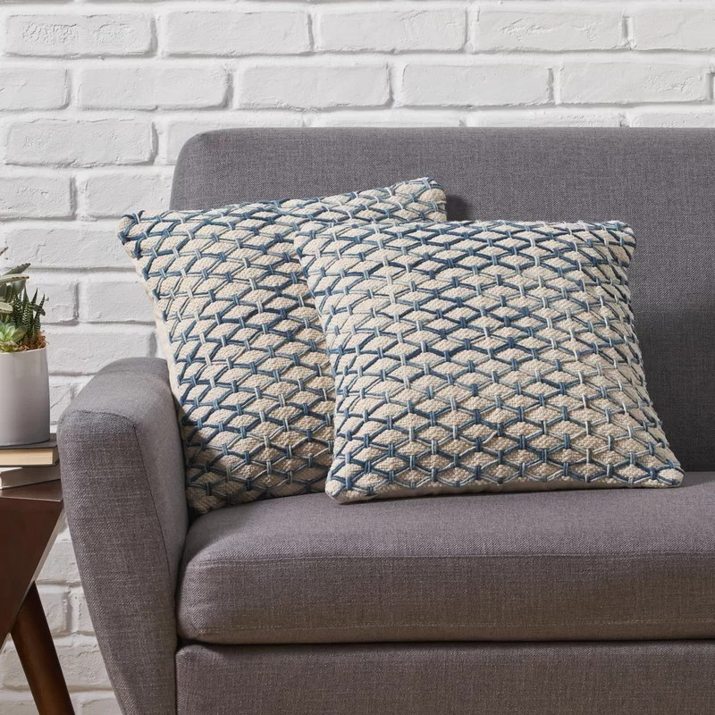 visser boho cotton throw pillow cover