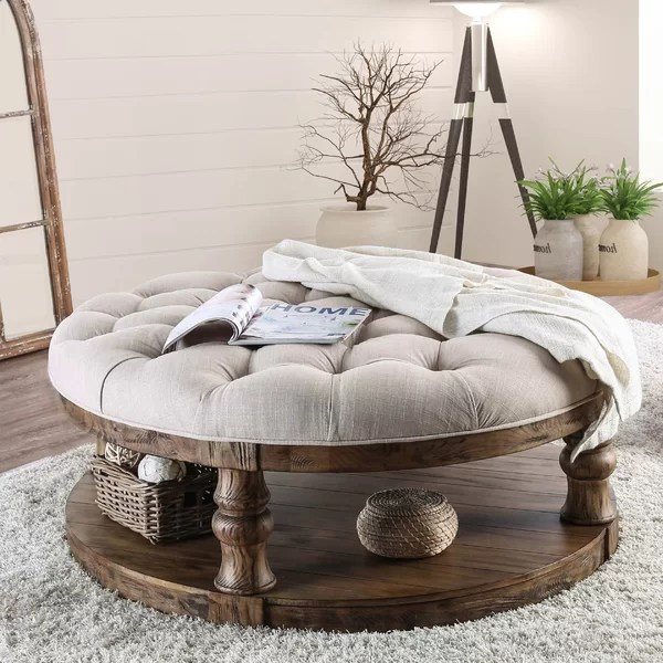 fabric tufted coffee table