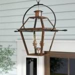 Laurel Foundry Modern Farmhouse Lois 4 Bulb 29 5 H Outdoor Hanging Lantern Reviews Wayfair