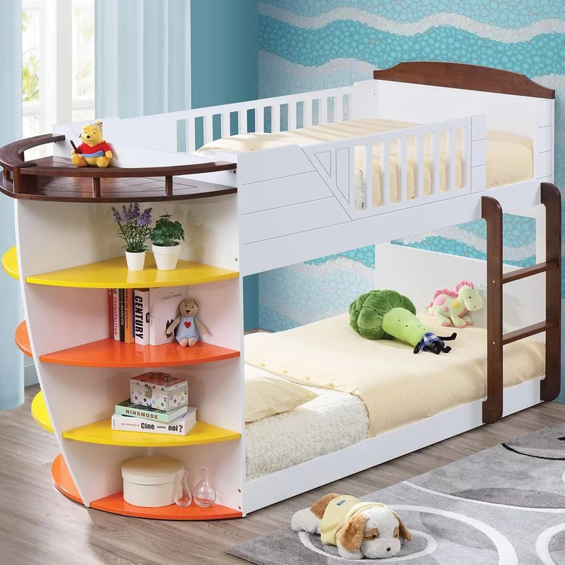 edmonds twin bunk bed with shelves