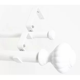 double rod white curtain hardware