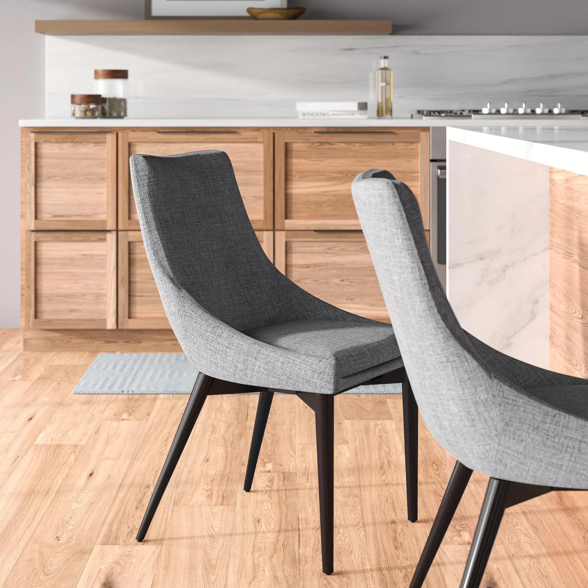 Cade Linen Upholstered Dining Chair Reviews Allmodern