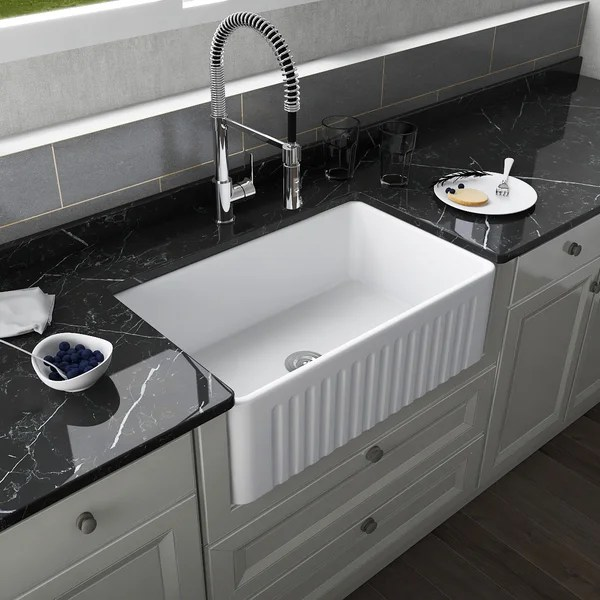 large modern kitchen sink