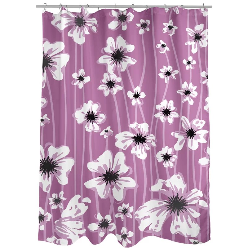 levi floral single shower curtain