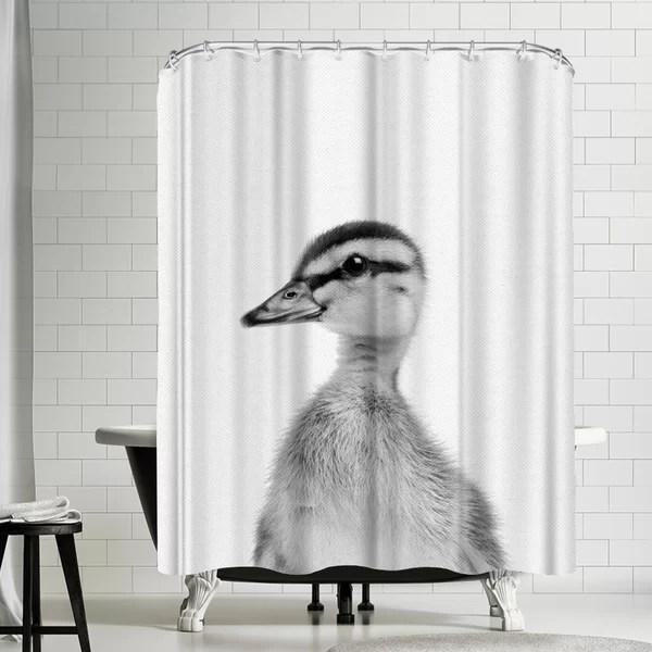 nauda baby duck shower curtain