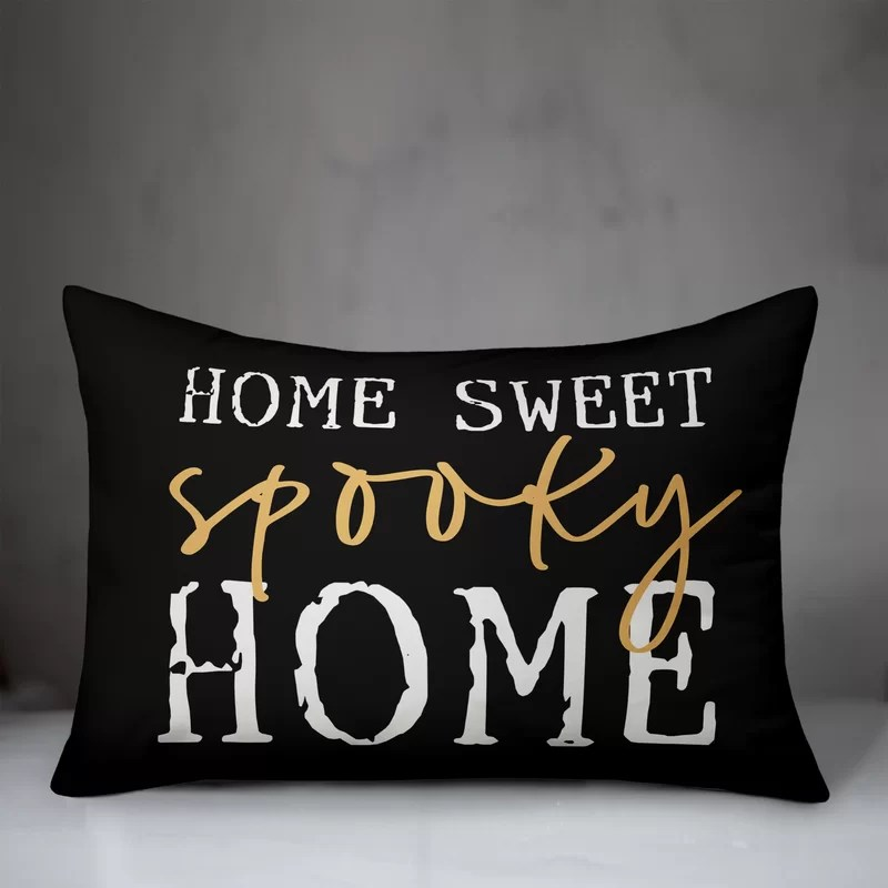 lorca home sweet spooky home lumbar pillow