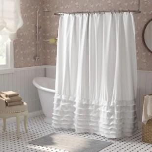 lafleur solid color single shower curtain