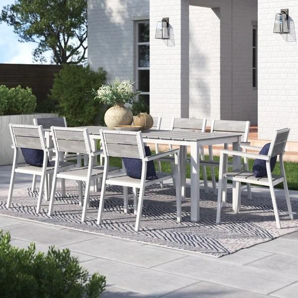 churchton 9 piece outdoor patio dining set