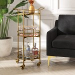 Round Small Less Than 24 Bar Carts You Ll Love In 2021 Wayfair