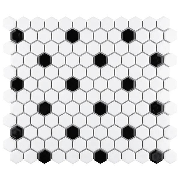 modern contemporary black mosaic tile