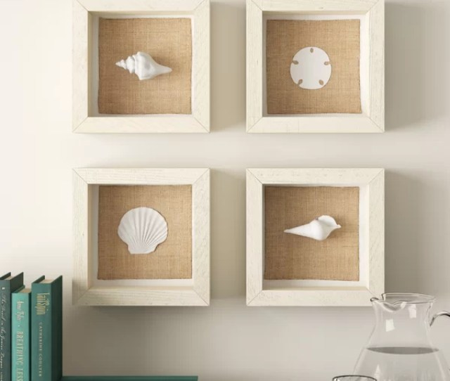 Piece Seashell Wall Decor Set Reviews Birch Lane
