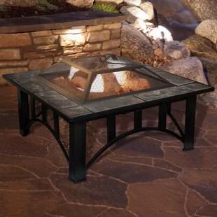 jackqueline steel wood burning fire pit table
