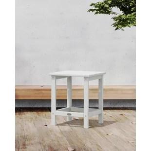 long island plastic side table