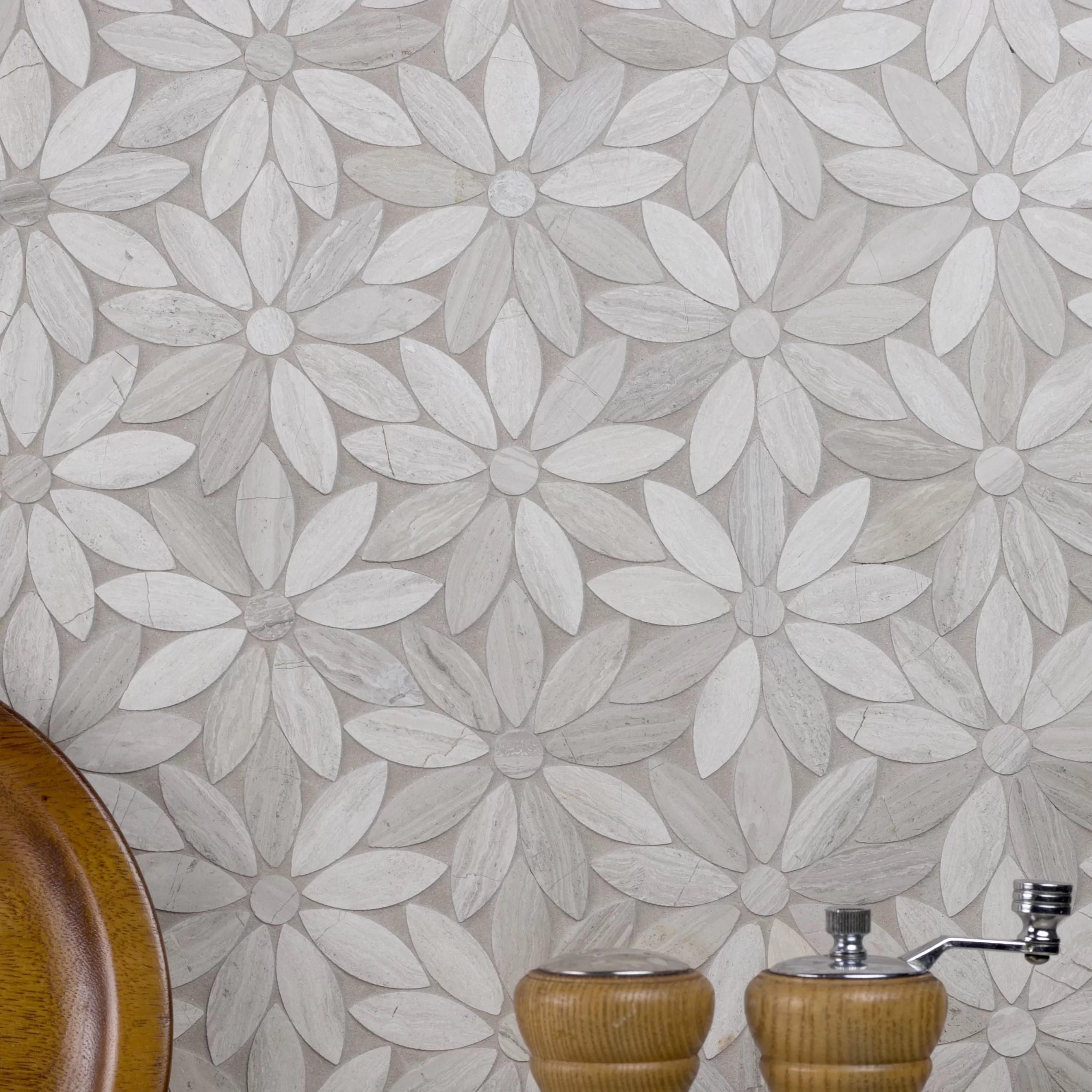 abolos 12 x 12 marble mosaic wall floor tile