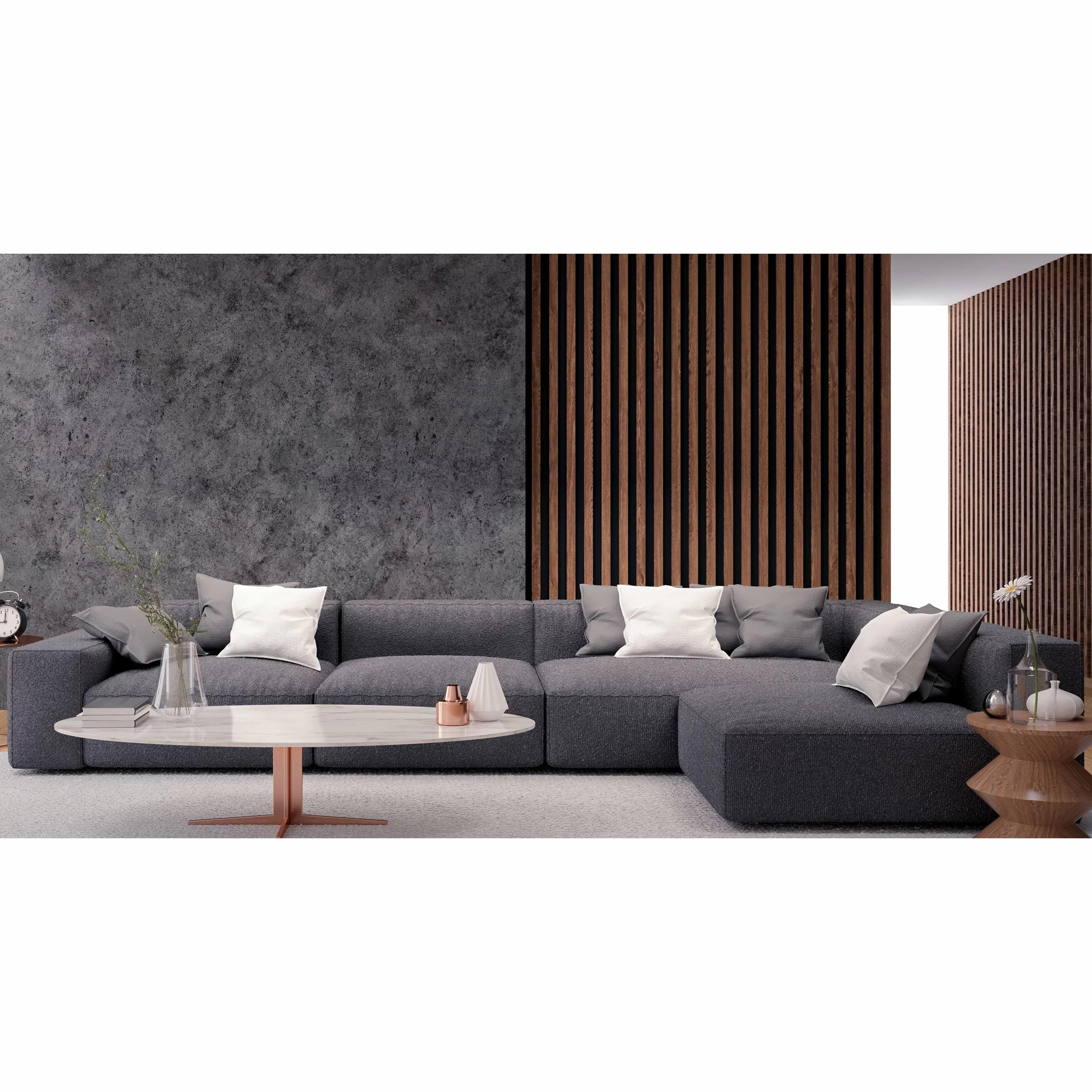elijah grey fabric sectional sofa