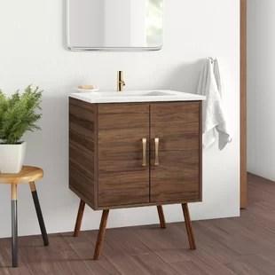 modern mid century bathroom vanities