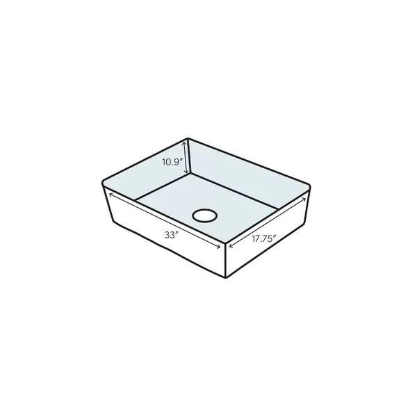 prolific 33 l x 17 3 4 w x 11 undermount single bowl kitchen sink with accessories