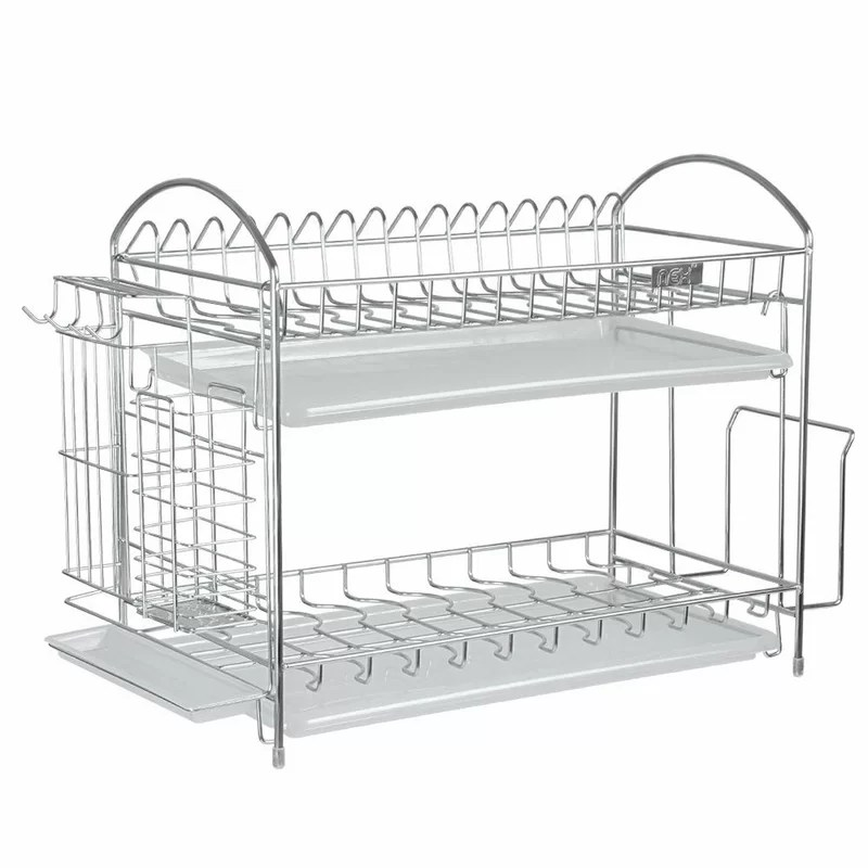 nex stainless steel with chopstick and utensil holder 2 tier dish rack