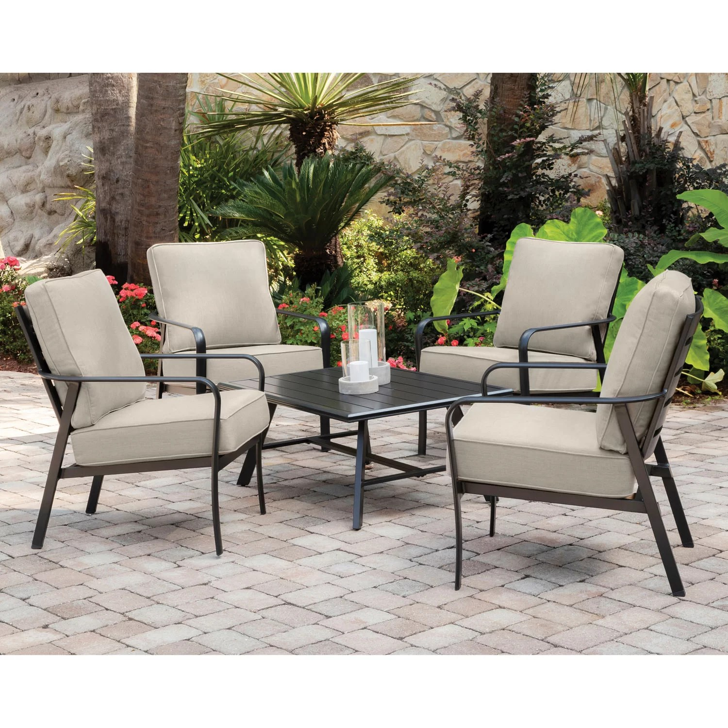 https www wayfair com outdoor pdp gracie oaks colson 5 piece commercial grade patio seating set with 4 cushioned club chairs and an aluminum slat top coffee table w001559833 html