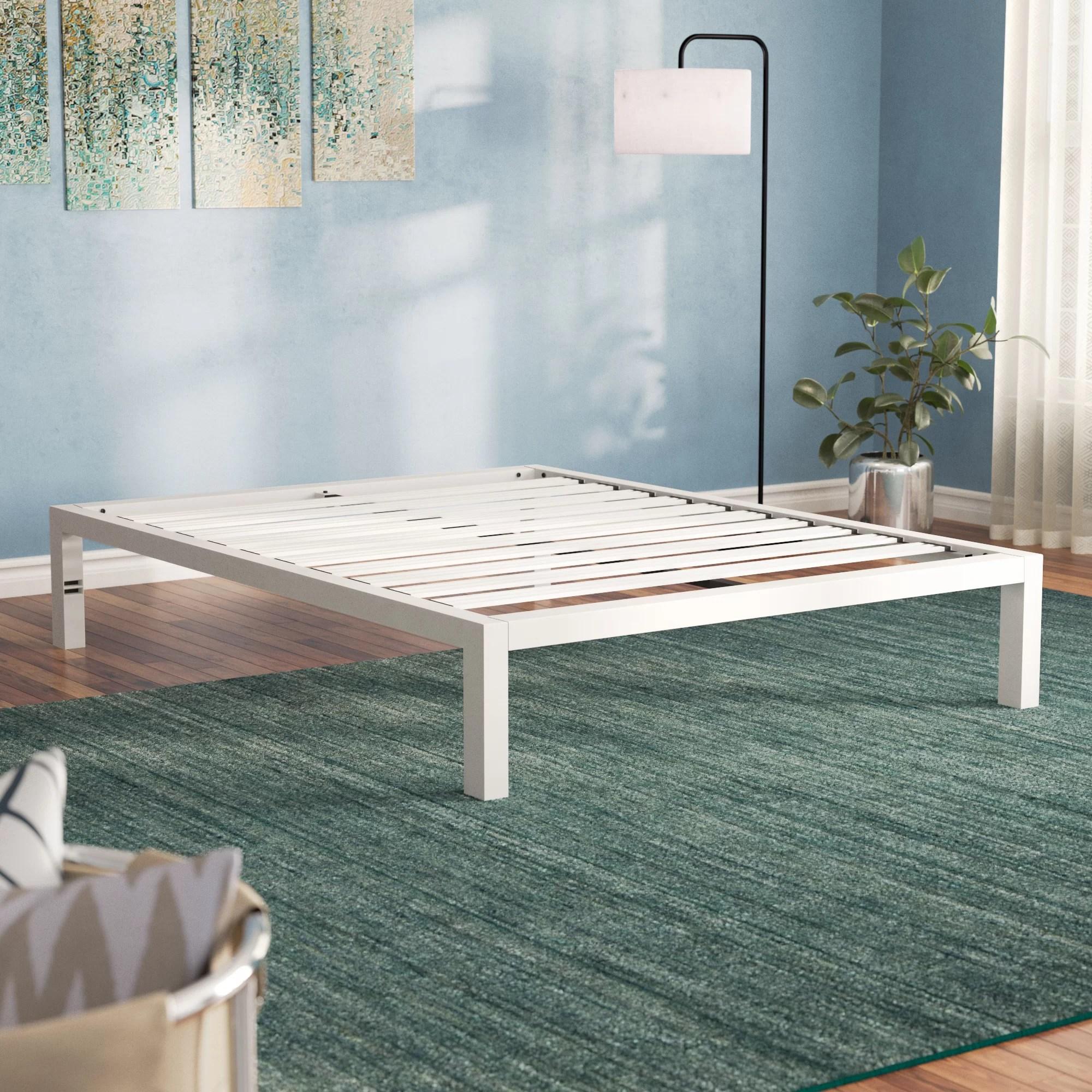 Alwyn Home Hammonds Steel Platform Bed Frame Reviews Wayfair