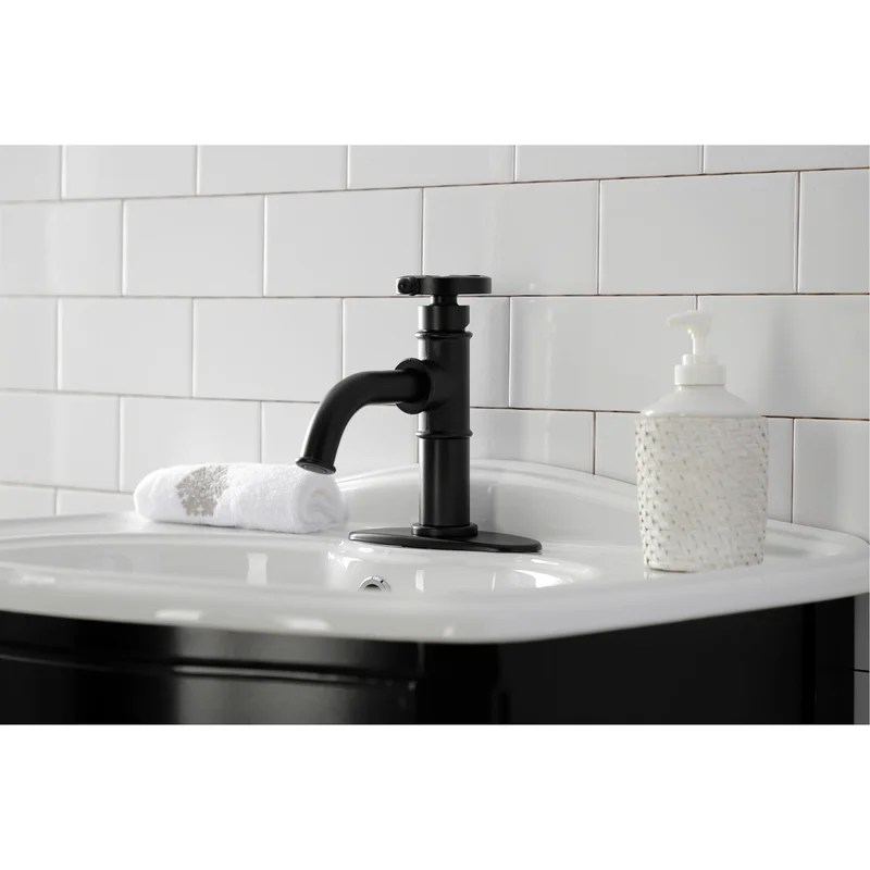 belknap single hole bathroom faucet with drain assembly