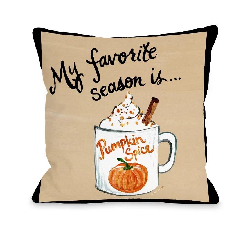 Stalter Pumpkin Spice Throw Pillow