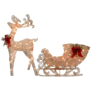 repairing a lighted outdoor christmas decoration thriftyfun - Outdoor Christmas Reindeer Decorations Lighted