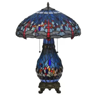 Tiffany Hanginghead Dragonfly Lighted Base 25.5