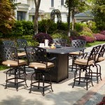 Canora Grey Milstead 9 Piece Bar Height Dining Set With Firepit