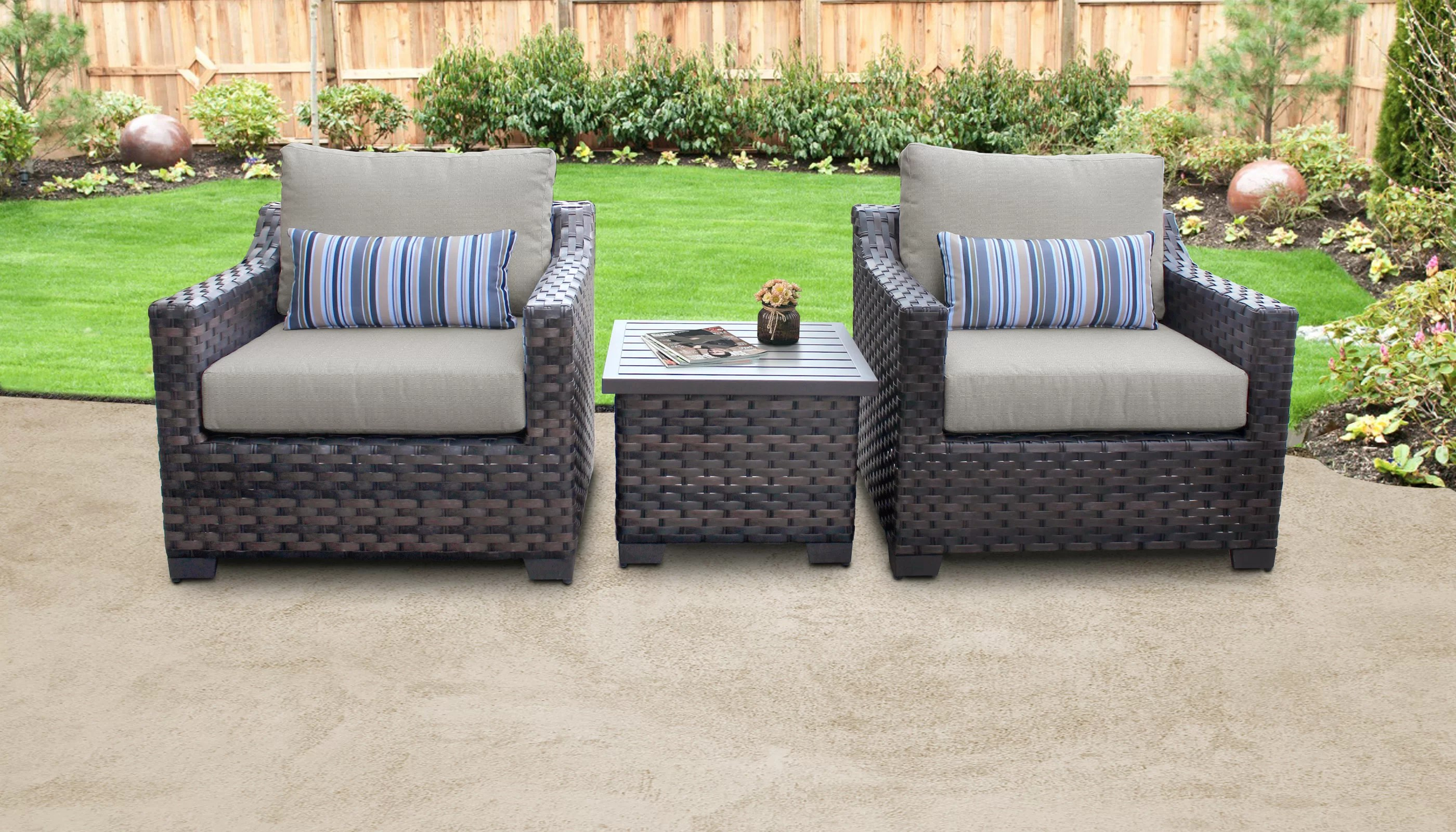 river brook 3 piece rattan seating group with cushions