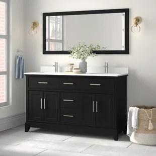 blevens 60 double bathroom vanity set with mirror