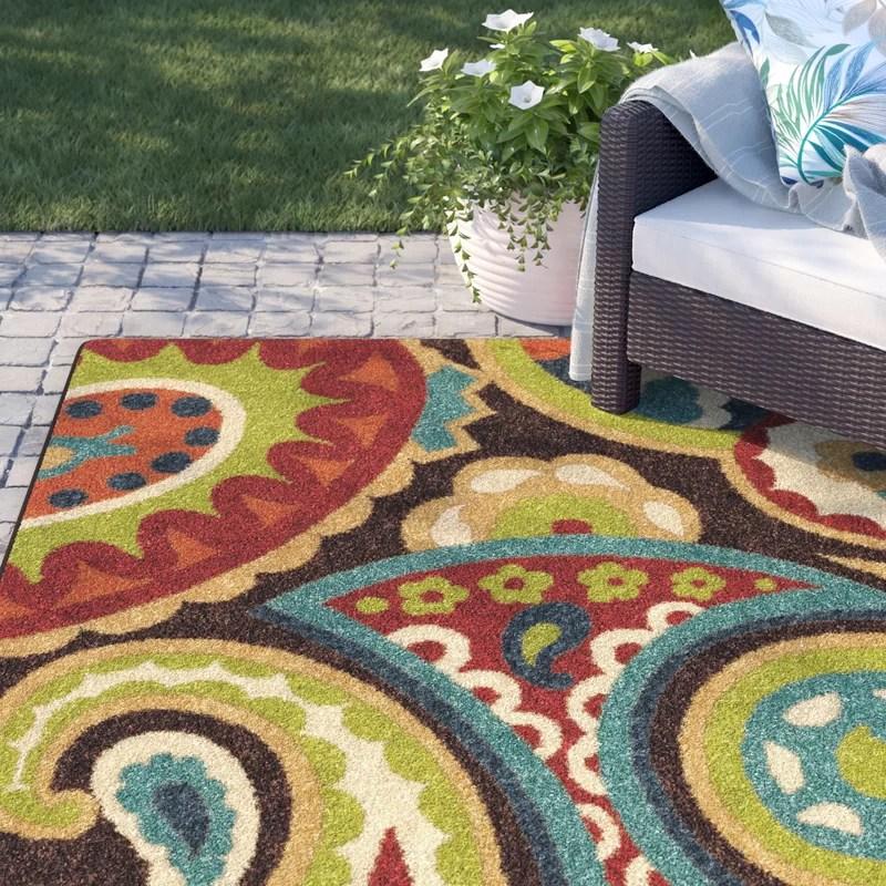 margarita paisley green indoor outdoor area rug