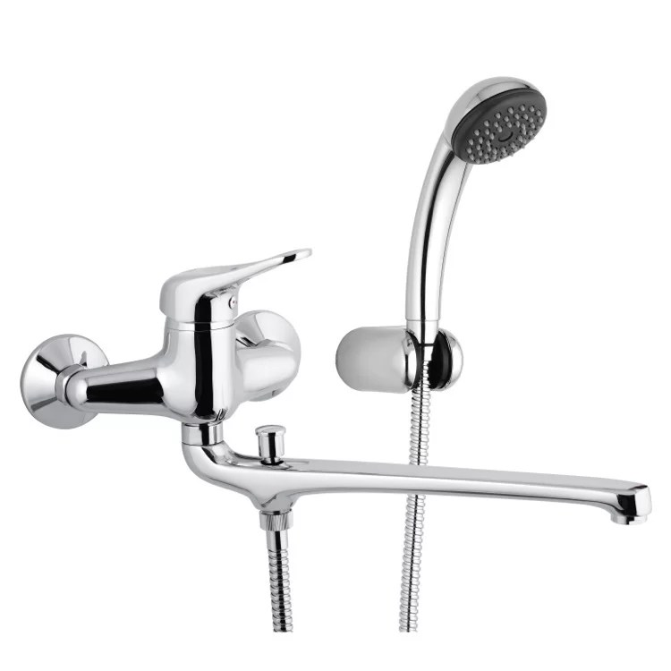 single handle wall mounted tub spout trim with diverter and handshower